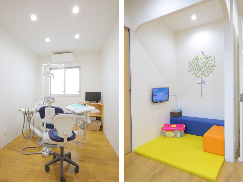 診療室とキッズスペース